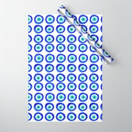 Evil Eye Amulet Talisman - on white Wrapping Paper