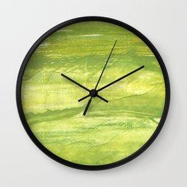 Spring greens Wall Clock
