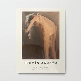 Poster-Fermin Aguayo-Nu a La Serviette. Metal Print