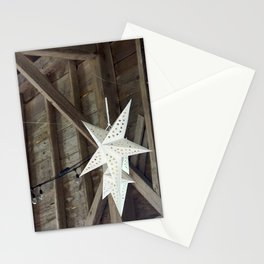 Paper Stars Rustic Barn Decoration Stationery Cards