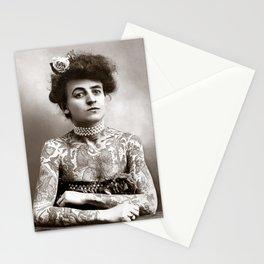 Tattooed Lady, 1907. Vintage Photo Stationery Cards