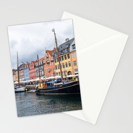 Nyhavn waterfront in Copenhagen Stationery Cards
