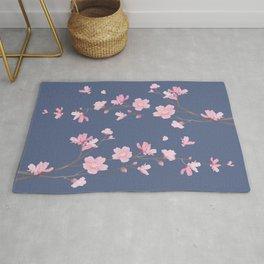 Cherry Blossom - Denim Blue Rug
