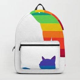 LGBT Rainbow Gay Pride Cat Backpack