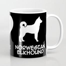 Peace, Love, Norwegian Elkhound Coffee Mug