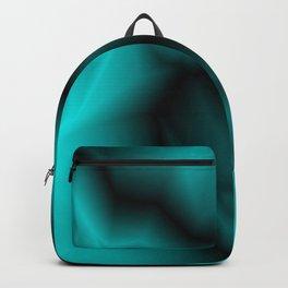 Dark lines of light blue lightning with a voluminous gap. Backpack