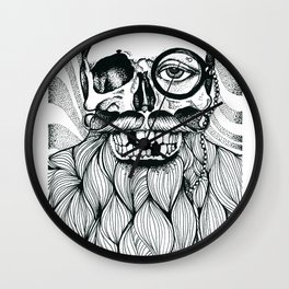 Mr. Skull Beard Wall Clock
