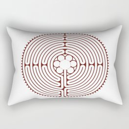 Cathedral of Our Lady of Chartres Labyrinth - Red Rectangular Pillow