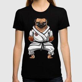 Karate Pug Dog Martial Arts Ninja T-shirt
