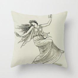 Dancing Maenad Throw Pillow