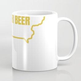 Funny Iowa Beer Shirt-Distressed Iowa State Map T Shirt T-Shirt Coffee Mug