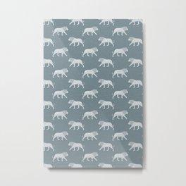 lions - stone blue Metal Print