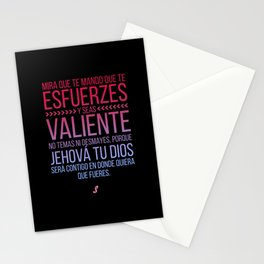 Esfuerzate y se valiente Stationery Cards