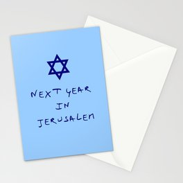 Next year in Jerusalem 8 Stationery Cards