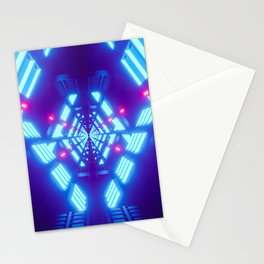 New Retro Wave Future Abstract Colorful Pattern Stationery Cards