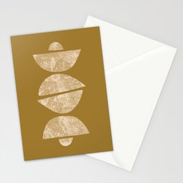 Abstract Half Circles Stationery Cards