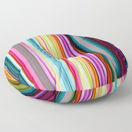Rainbow colored striped abstract geometrical pattern Floor Pillow