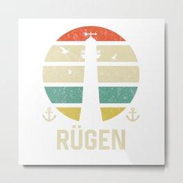 Rügen Beacon Vacation TShirt North Sea Shirt Nordsee Gift Idea  Metal Print
