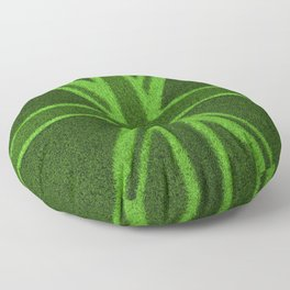 Grass Britain / 3D render of British flag grown from grass Floor Pillow