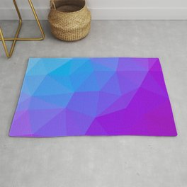 geometric triangle pattern blue purple Rug