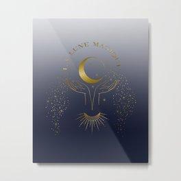 La Lune Magique The Magic Moon Metal Print