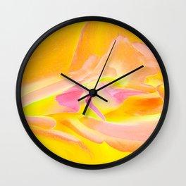 Rose 1207 - Yellow Wall Clock