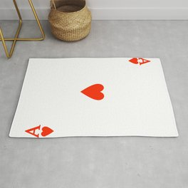Ace of hearts Costume Halloween Deck of Cards - playing card Rug