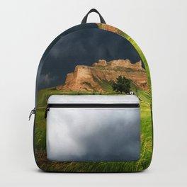 Wright's Gap - Stormy Sky Over Bluff in Western Nebraska Backpack