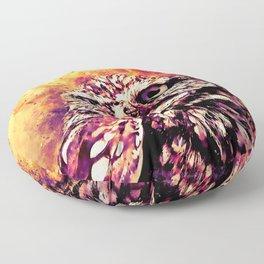 owl portrait 5 wslsh Floor Pillow