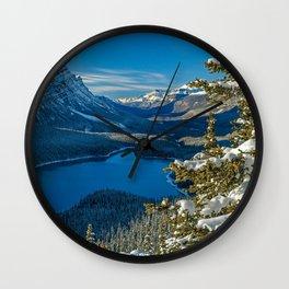 Peyto Lake mountain lake forest winter mountain landscape Banff National Park Alberta Canadian Rockie Canada Wall Clock