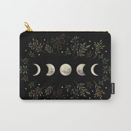 Moonlight Garden - Olive Green Carry-All Pouch