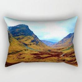 Glencoe, Scottish Highlands, in the Autumn Rectangular Pillow