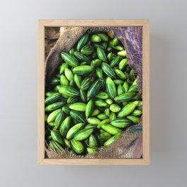 Cucumbers at the Jaipur Market Framed Mini Art Print
