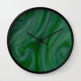 Green SWIRL Wall Clock