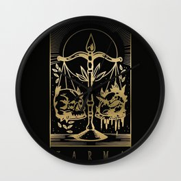 Karma Card   Black Wall Clock