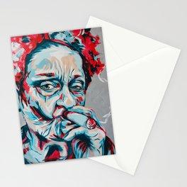 Smoking Frieda K by carographic, Carolyn Mielke Stationery Cards