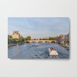 Pont Royal over the Seine river - Paris, France Metal Print