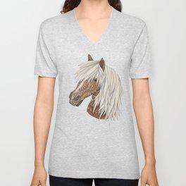 Haflinger Horse Unisex V-Neck