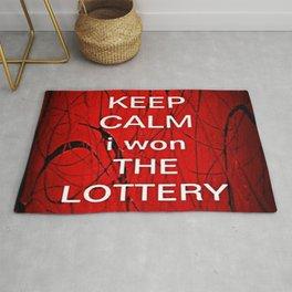 Keep Calm I Won The Lottery Rug