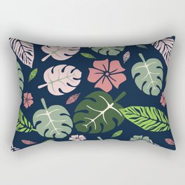 Tropical leaves Blue paradise #homedecor #apparel #tropical Rectangular Pillow