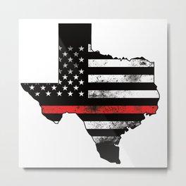 USA state texas map with integrated usa flag US Metal Print