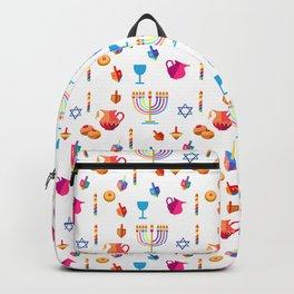 Happy Hanukkah Holiday Pattern Backpack