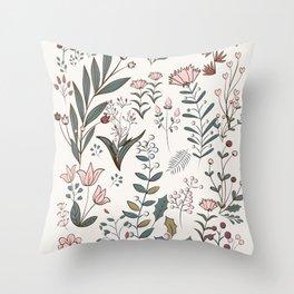 Winter Flowers II Throw Pillow