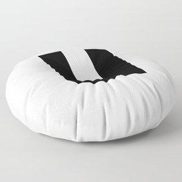 letter U (Black & White) Floor Pillow