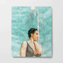 Bathe #painting #illustration Metal Print