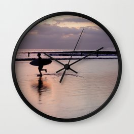 Running Surfer Wall Clock