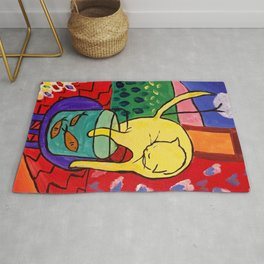 Cat with Red Fish- Henri Matisse Rug