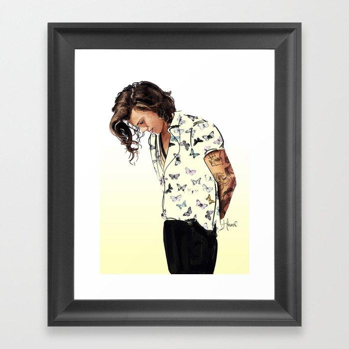 Harry Styles: Butterflies Gerahmter Kunstdruck
