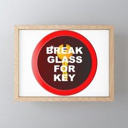 Break Glass For Key Framed Mini Art Print