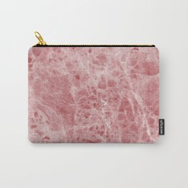 Juliette rosa deep pink marble Carry-All Pouch